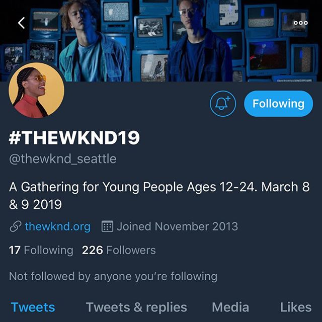 FOLLOW us on TWITTER @thewknd_seattle // We will be posting behind the scenes content & exclusive giveaways! + Our memes are pretty epic. #DoIt #TheWKND19