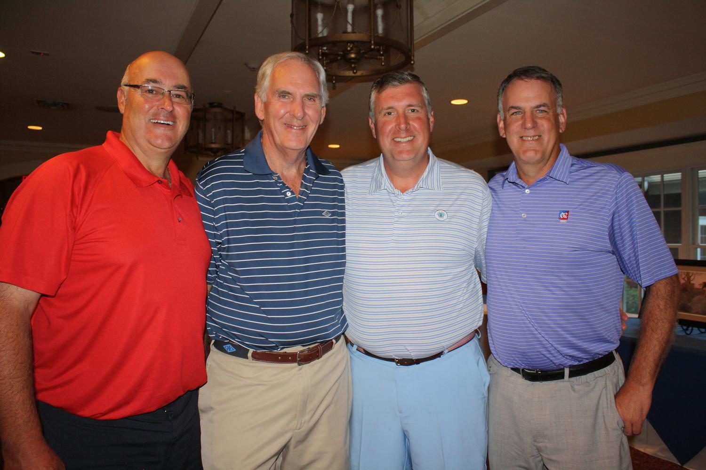 Frank Gavel, Bob Watson, Chris Watson, and Mike Johnson won at Rock Ridge Country Club (Bee Photo, Baggett)