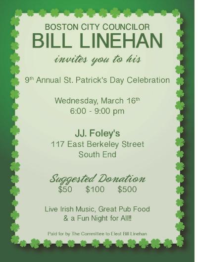bill linehan fundraiser