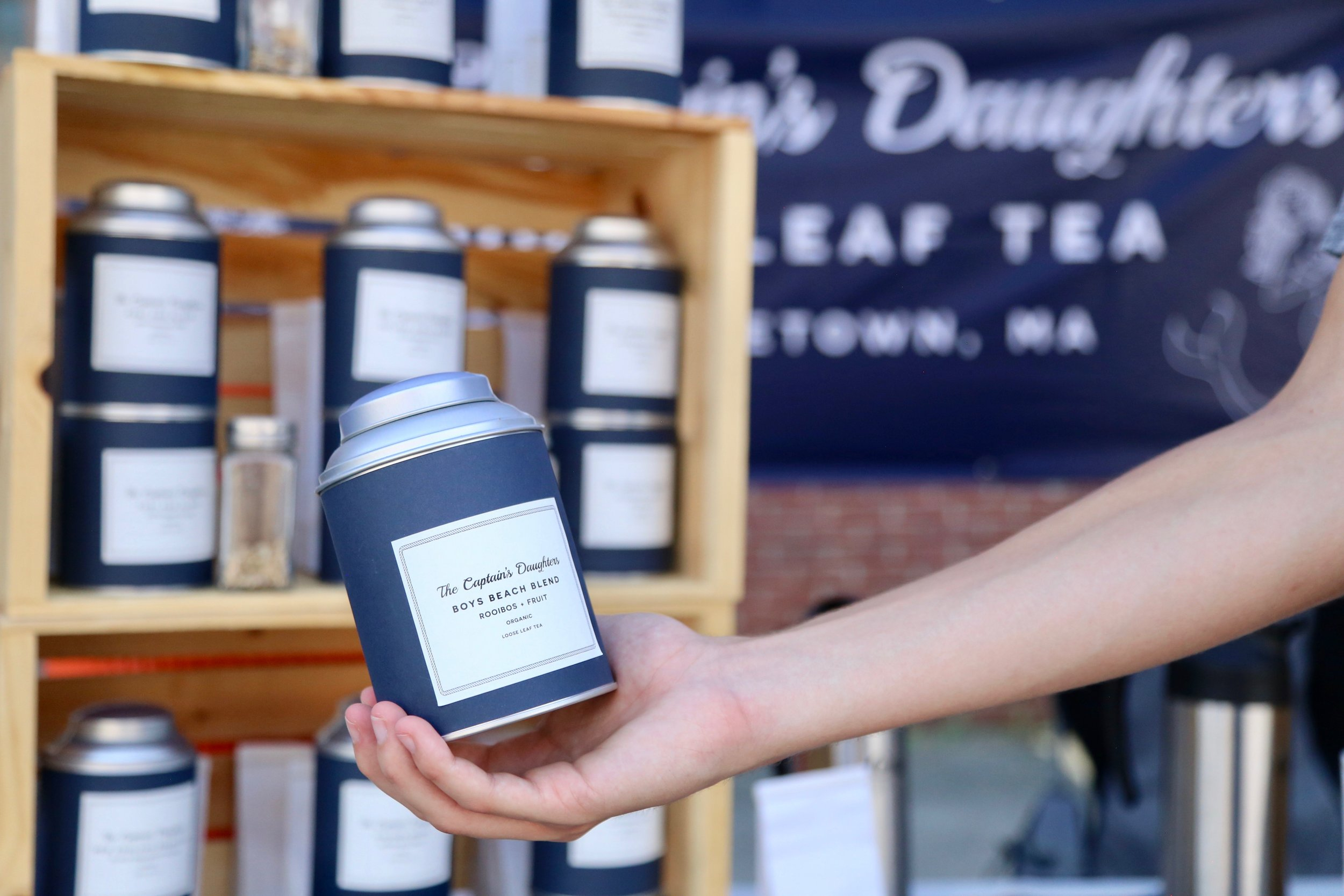 The Captian's Daughter - Try their tea iced! You can serve it over ice, with a splash of seltzer, or with some frozen berries tossed in! Boys Beach Blend pairs particularly well with summer.