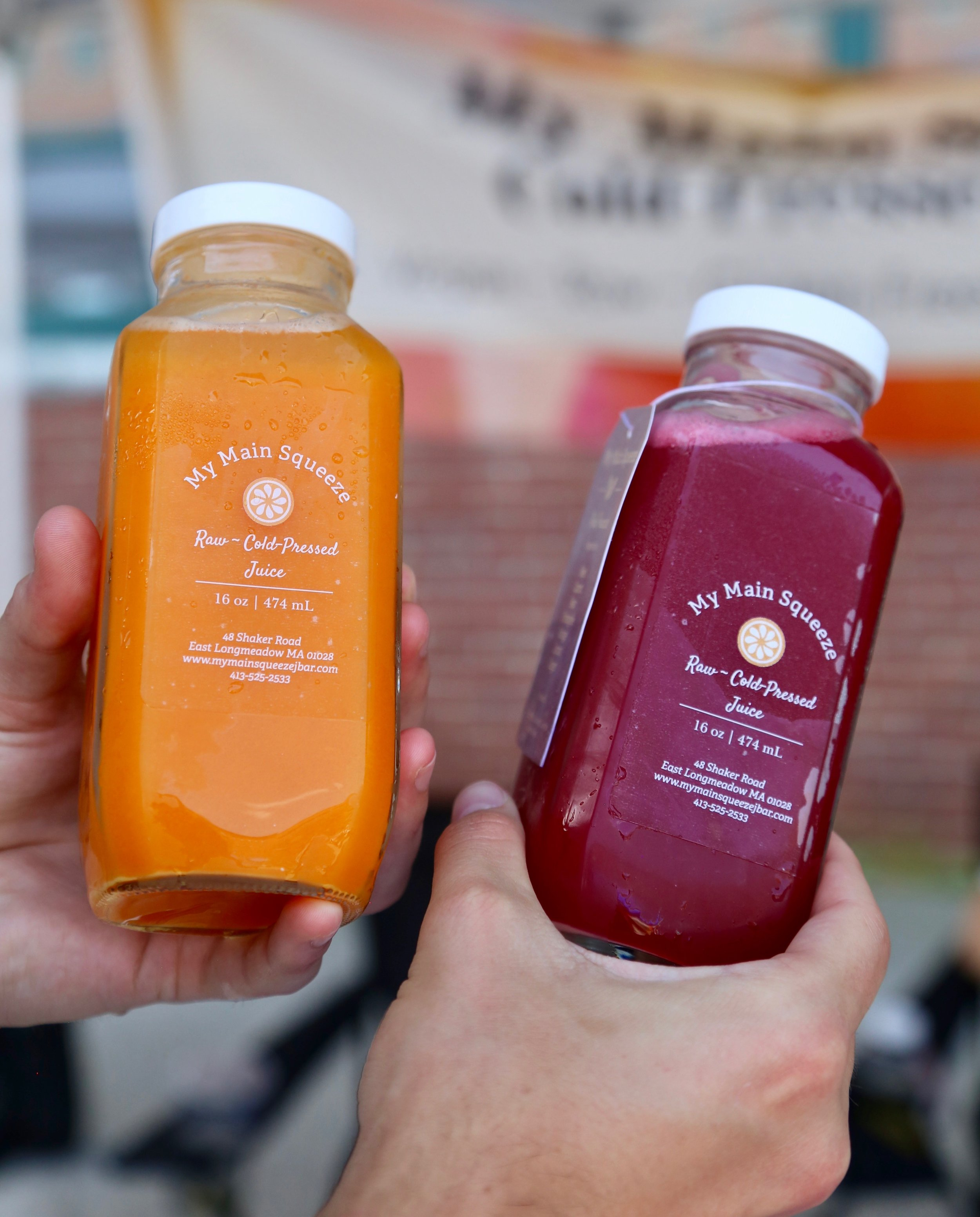 My Main Squeeze - Is there anything better than fresh pressed juice. All natural. Made fresh. Choose from a variety of delicious flavors!