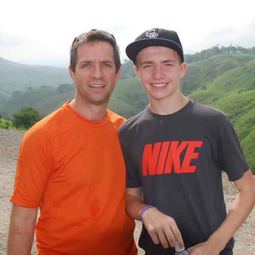 Noel Goggin of  Aptos  and his son Oisin