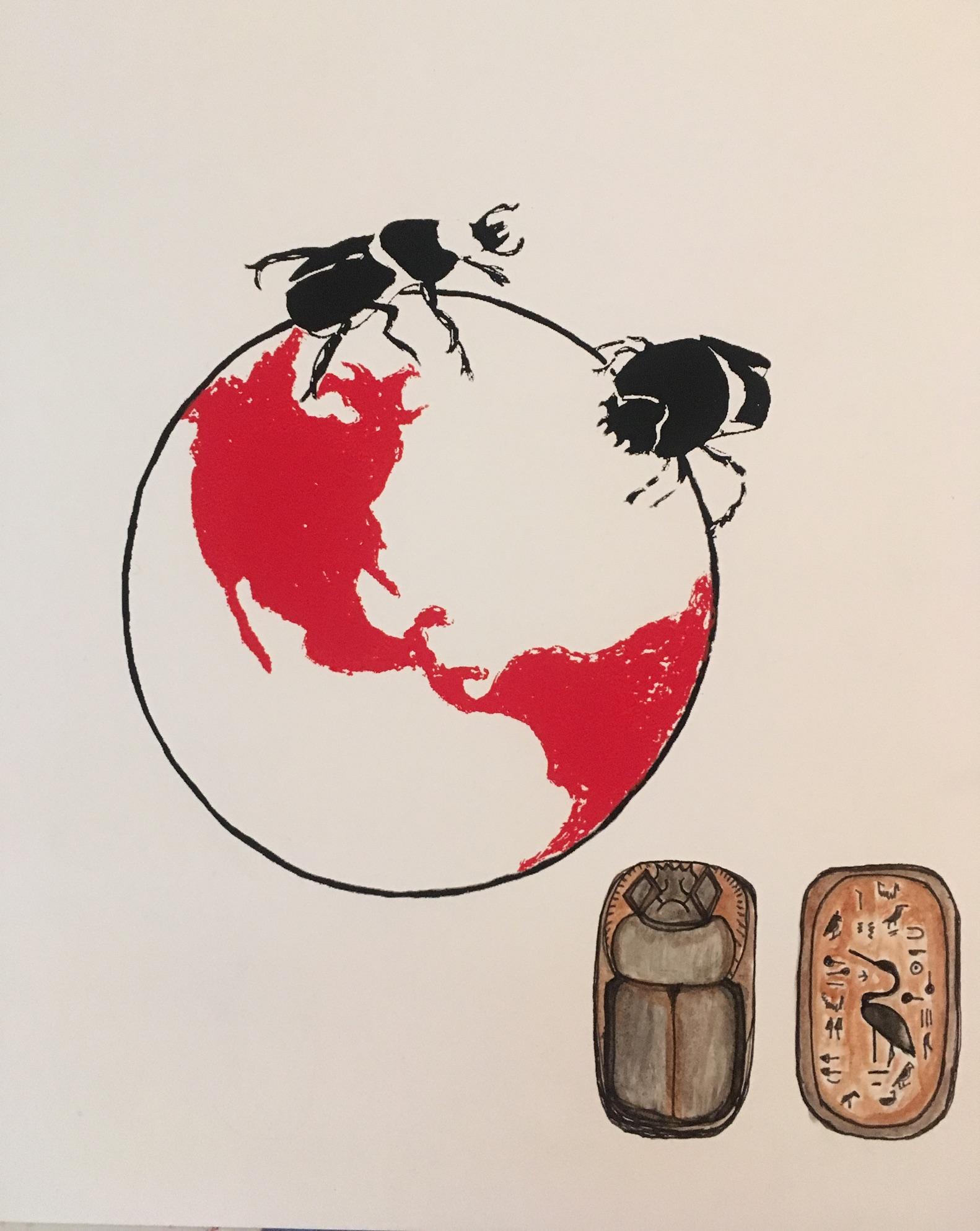 Dung beetle series/scarab