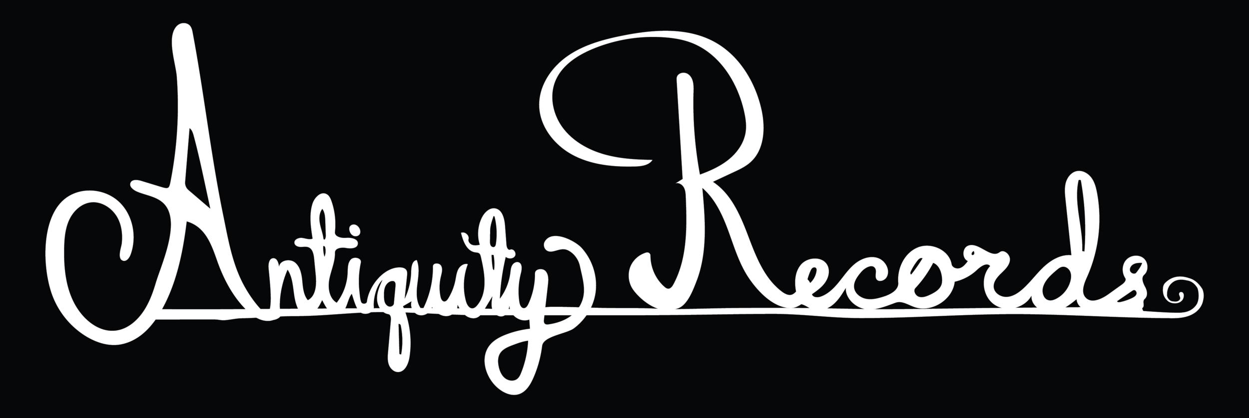 antiquity records identity system logo on black