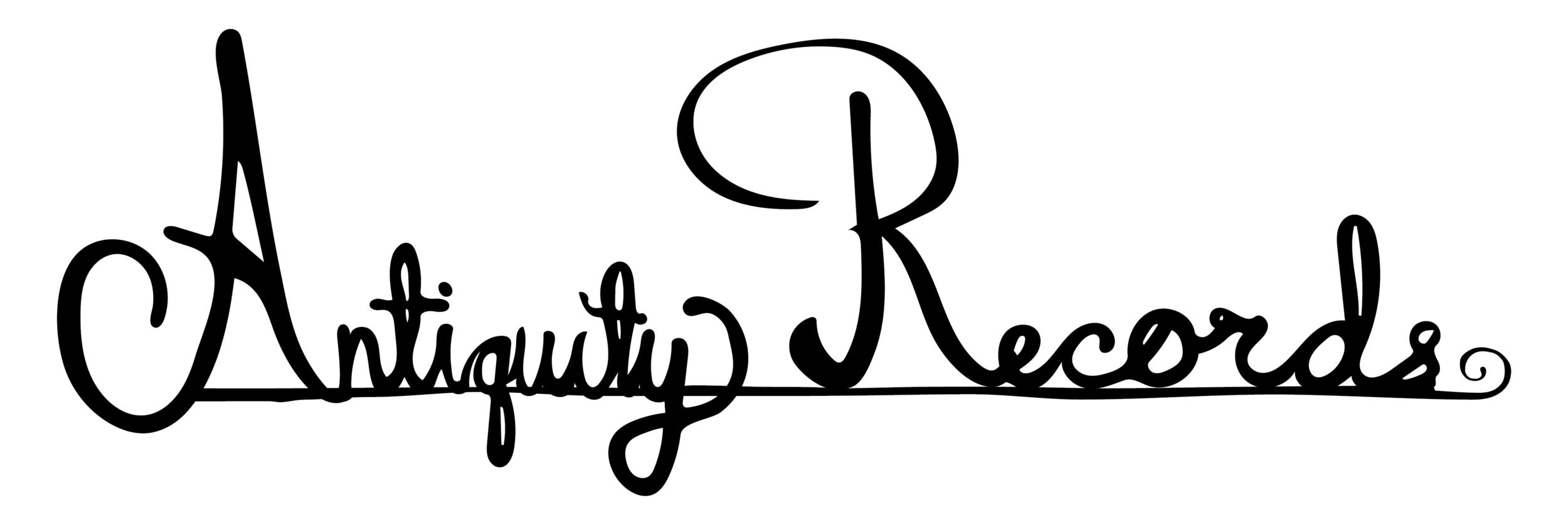 antiquity records identity system logo black