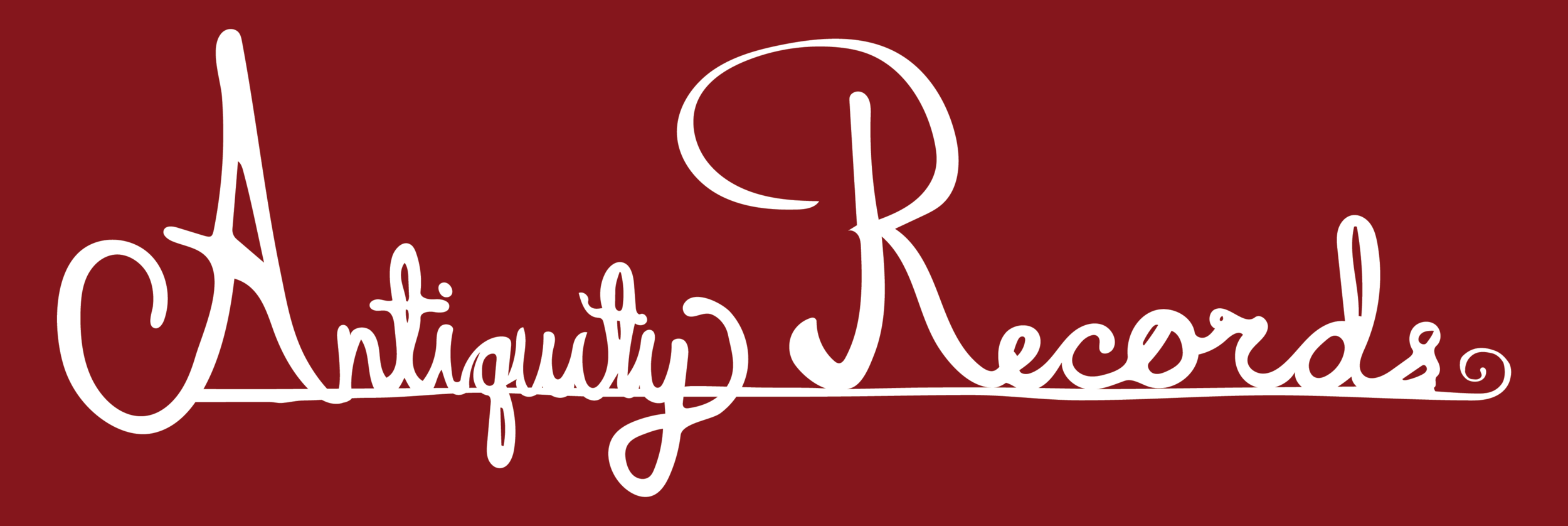 antiquity records identity system logo on red