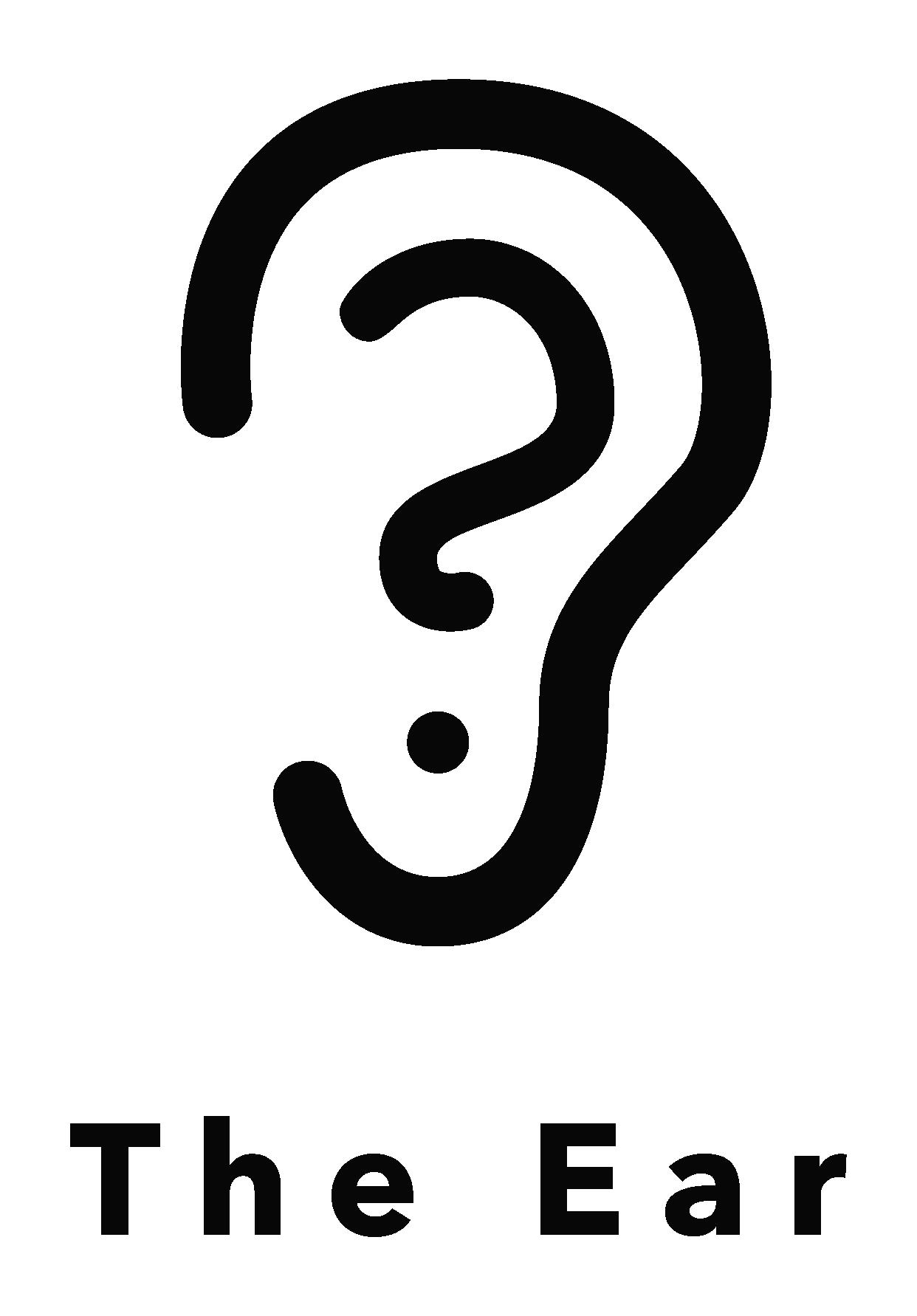 the ear podcast identity system logo full black