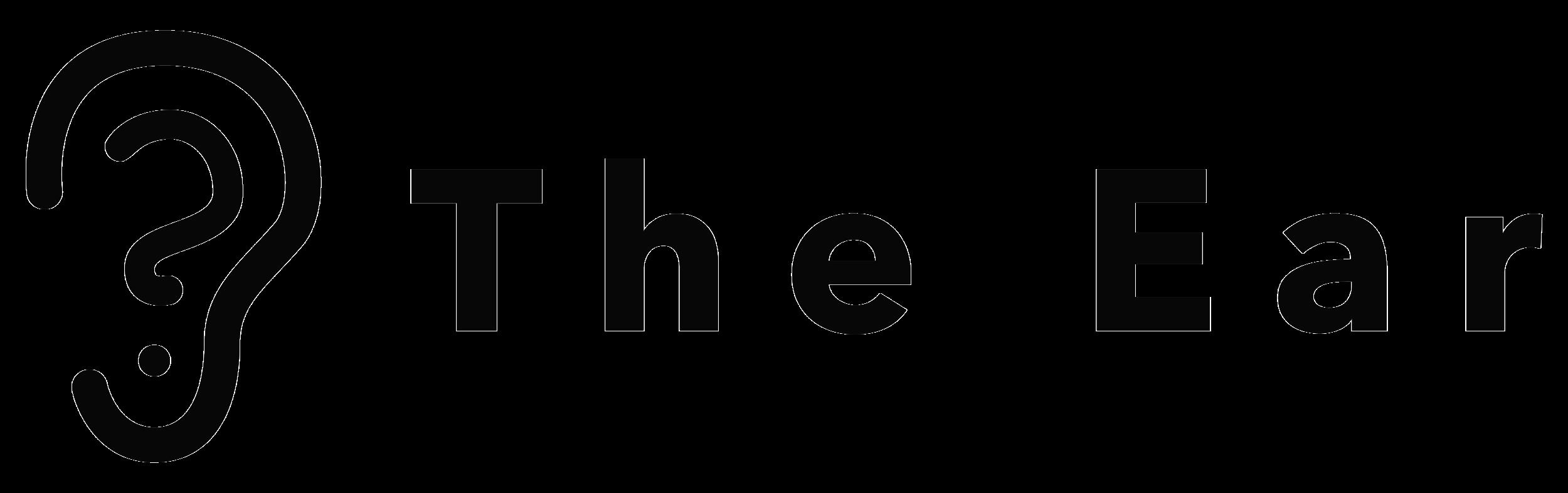 the ear podcast identity system horizontal black logo