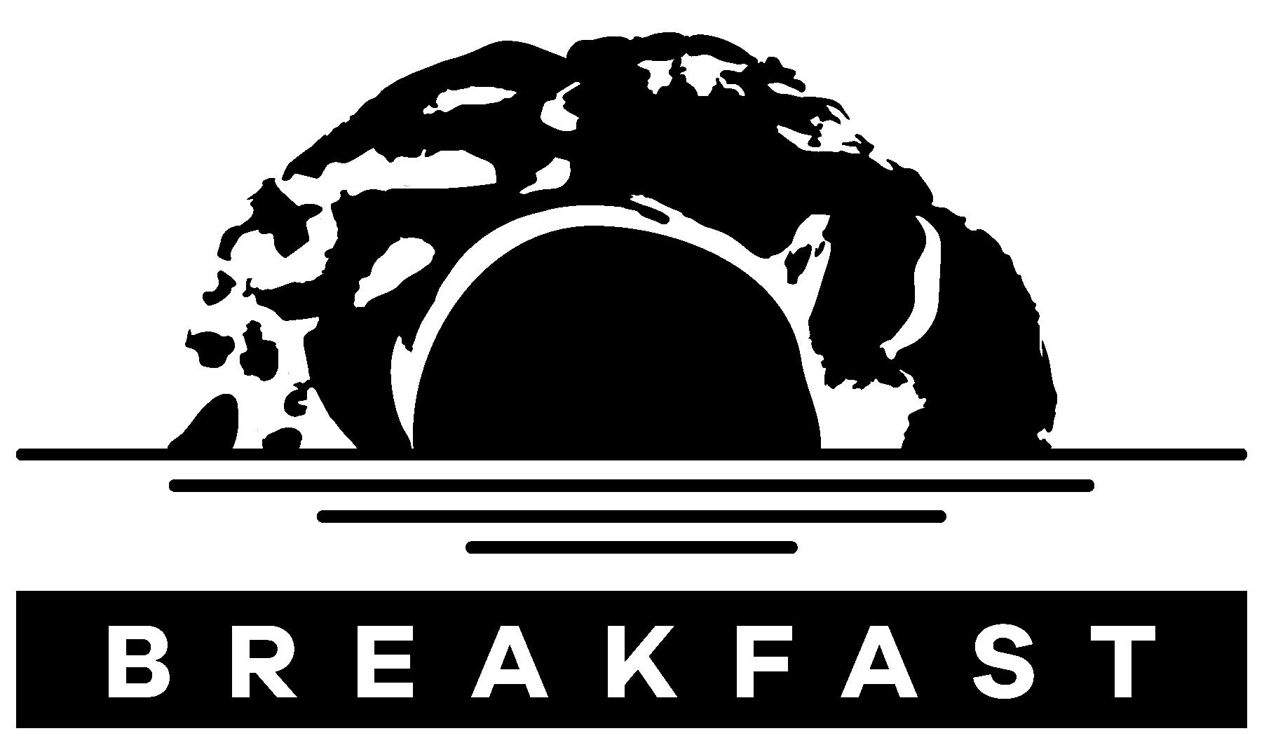 the 4our design breakfast identity logo full black