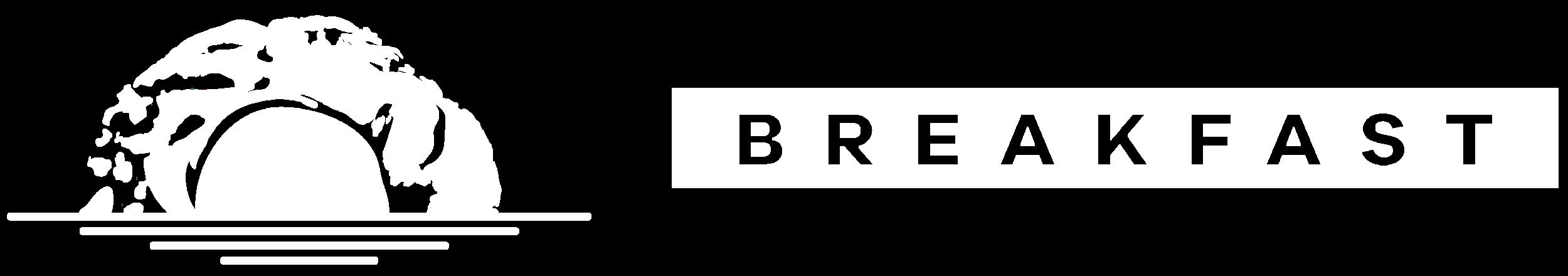 the 4our design breakfast identity logo horizontal white