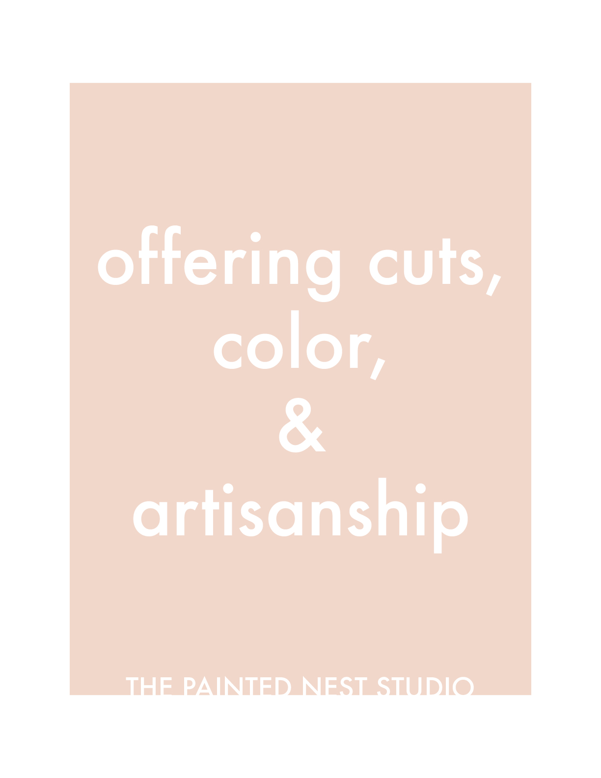 the painted nest studio identity strapline