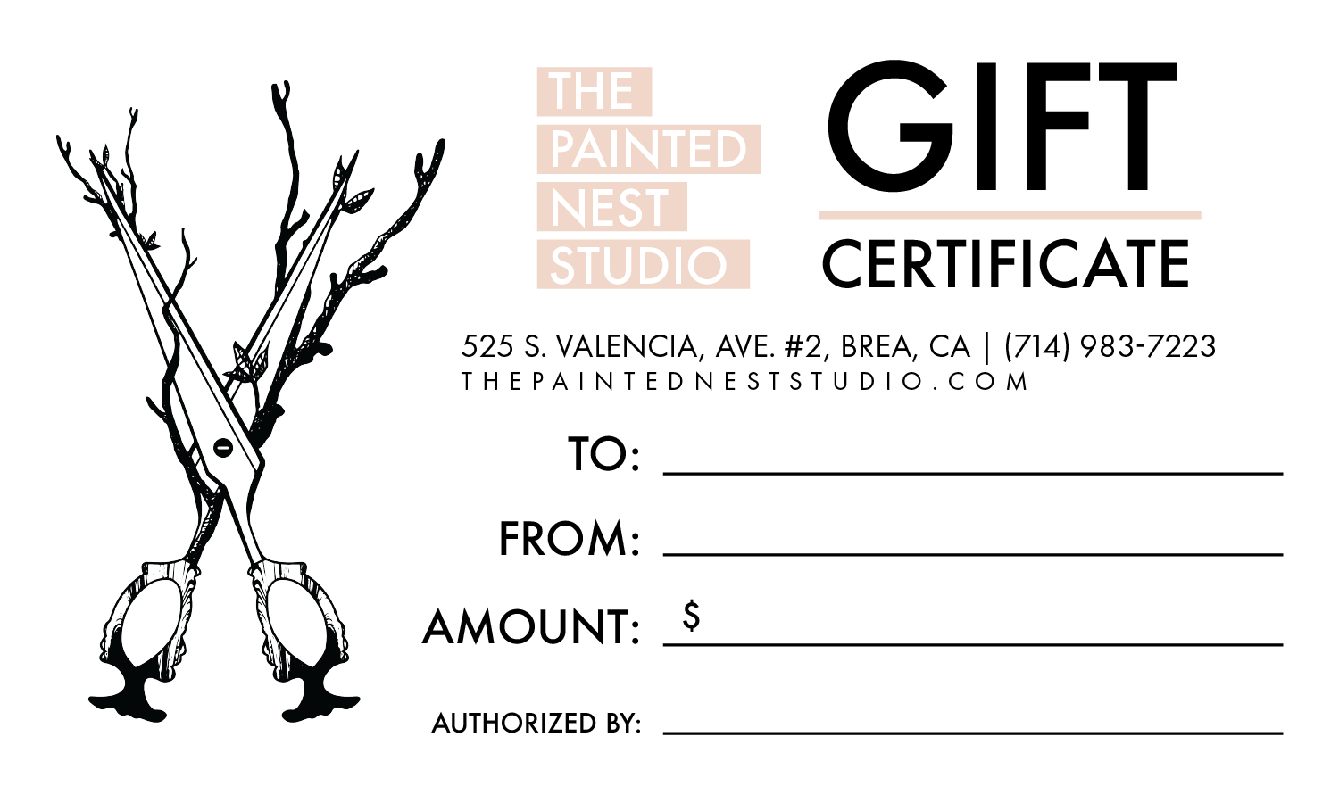 the painted nest studio gift certificate