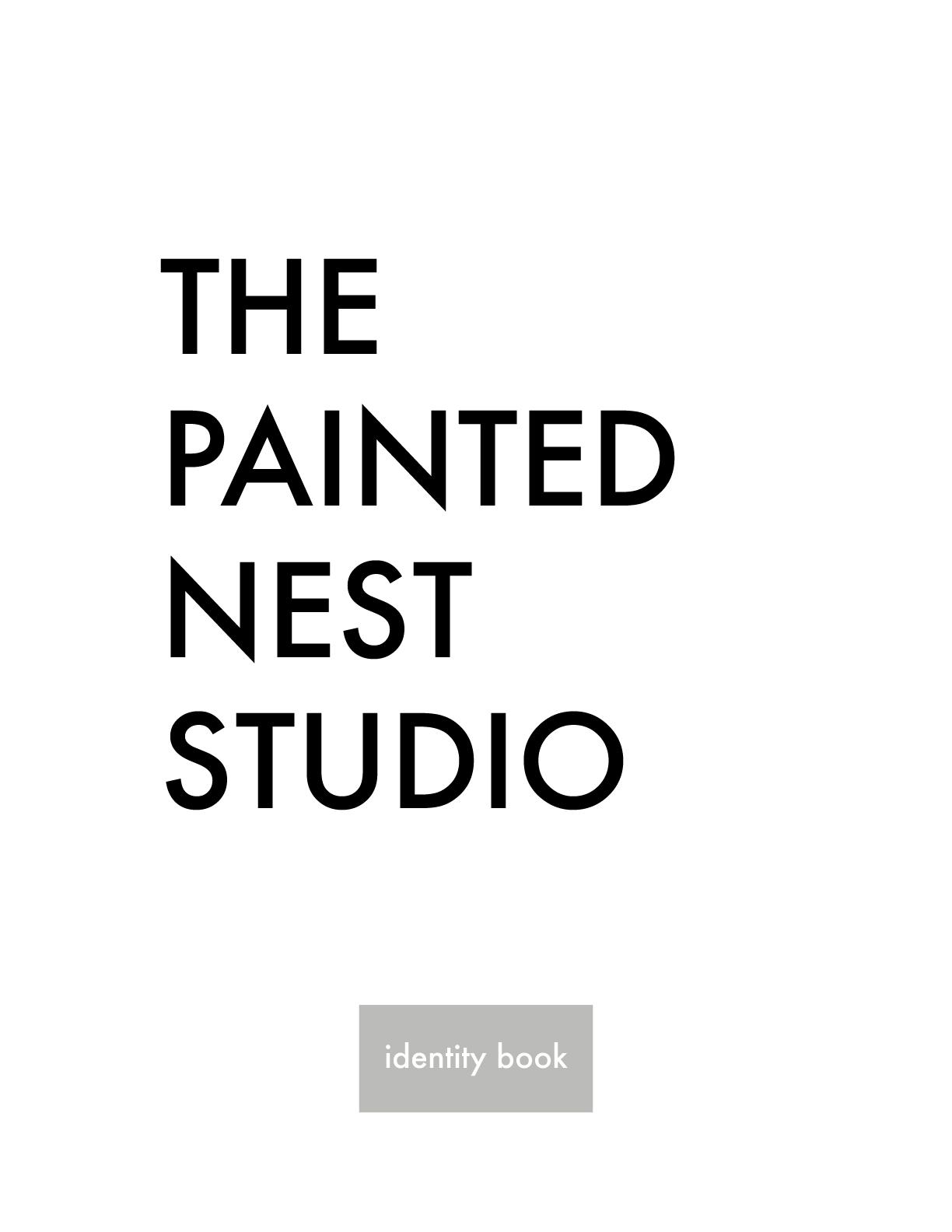 the painted nest studio identity book