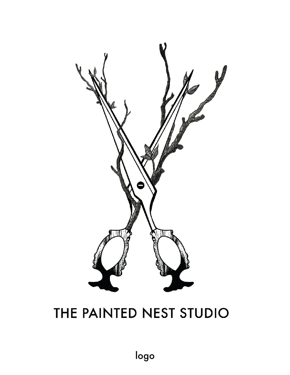 the painted nest studio logo