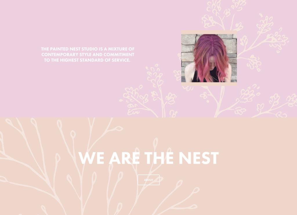 The Painted Nest Studio content block