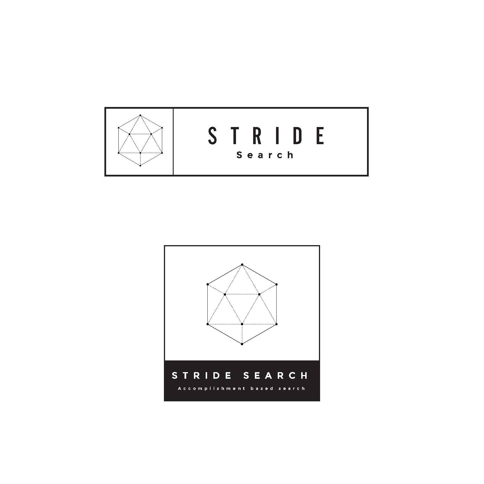 stride search concept 6 geometric logo art