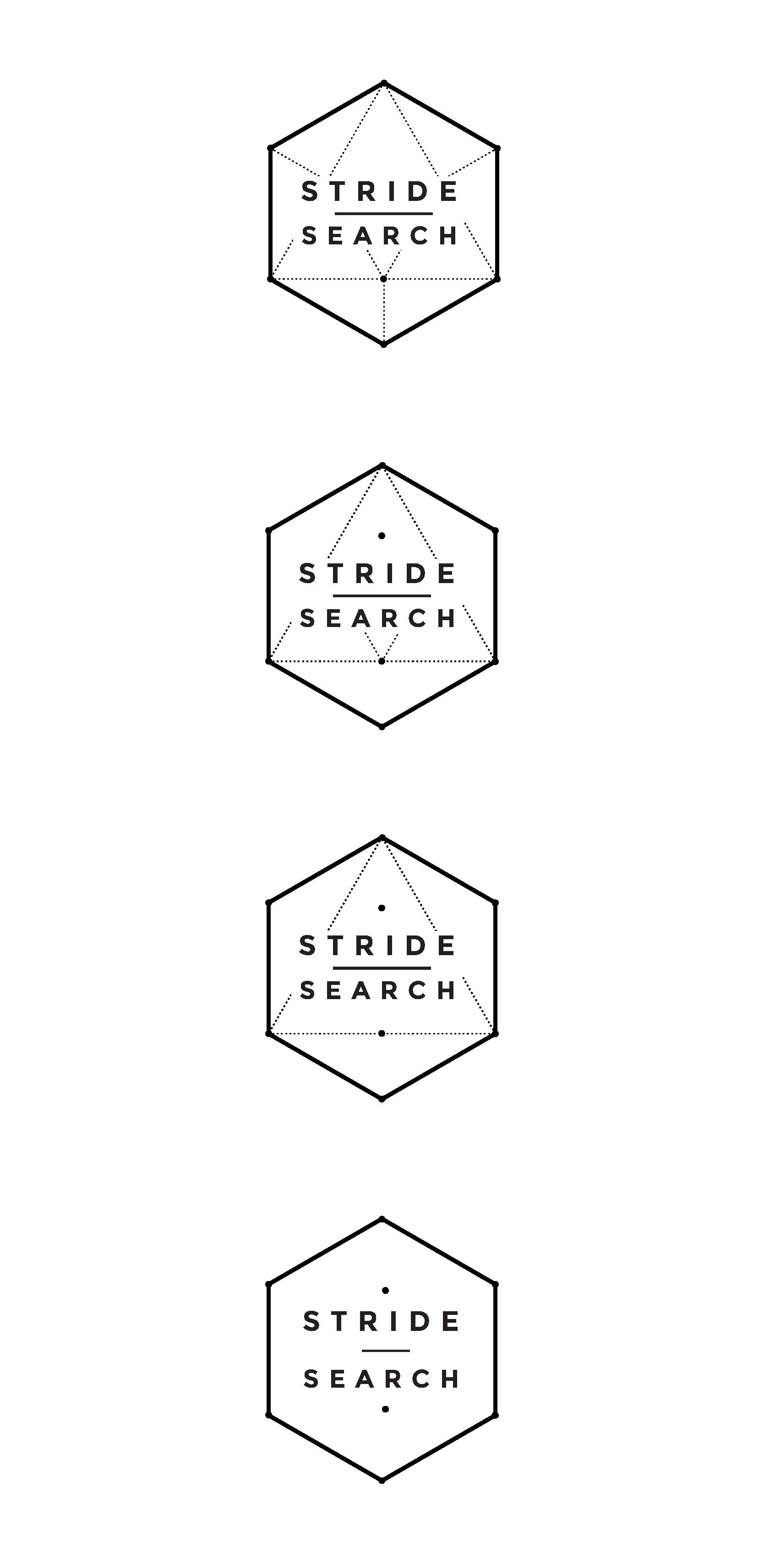 stride search concept 6 geometric logo art hexagon