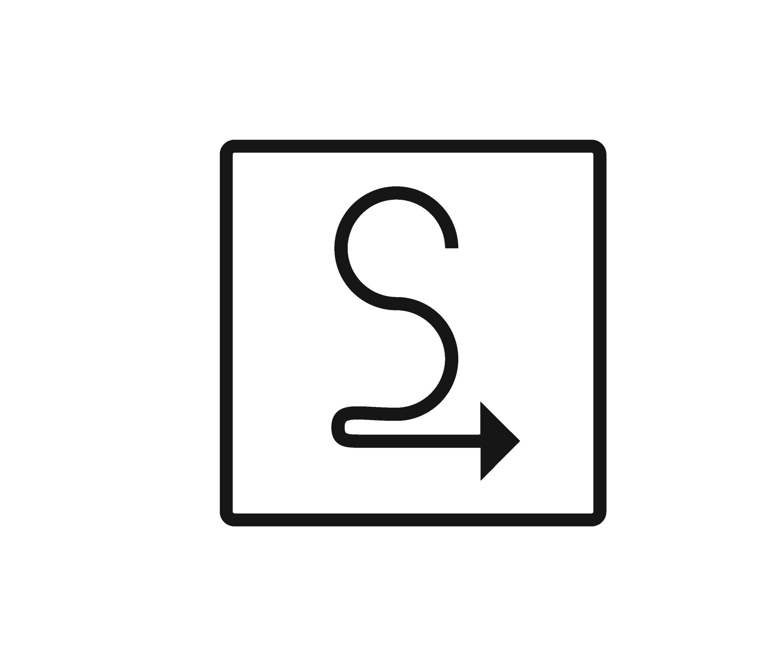 Stride Search identity logo concepts 2 arrow square