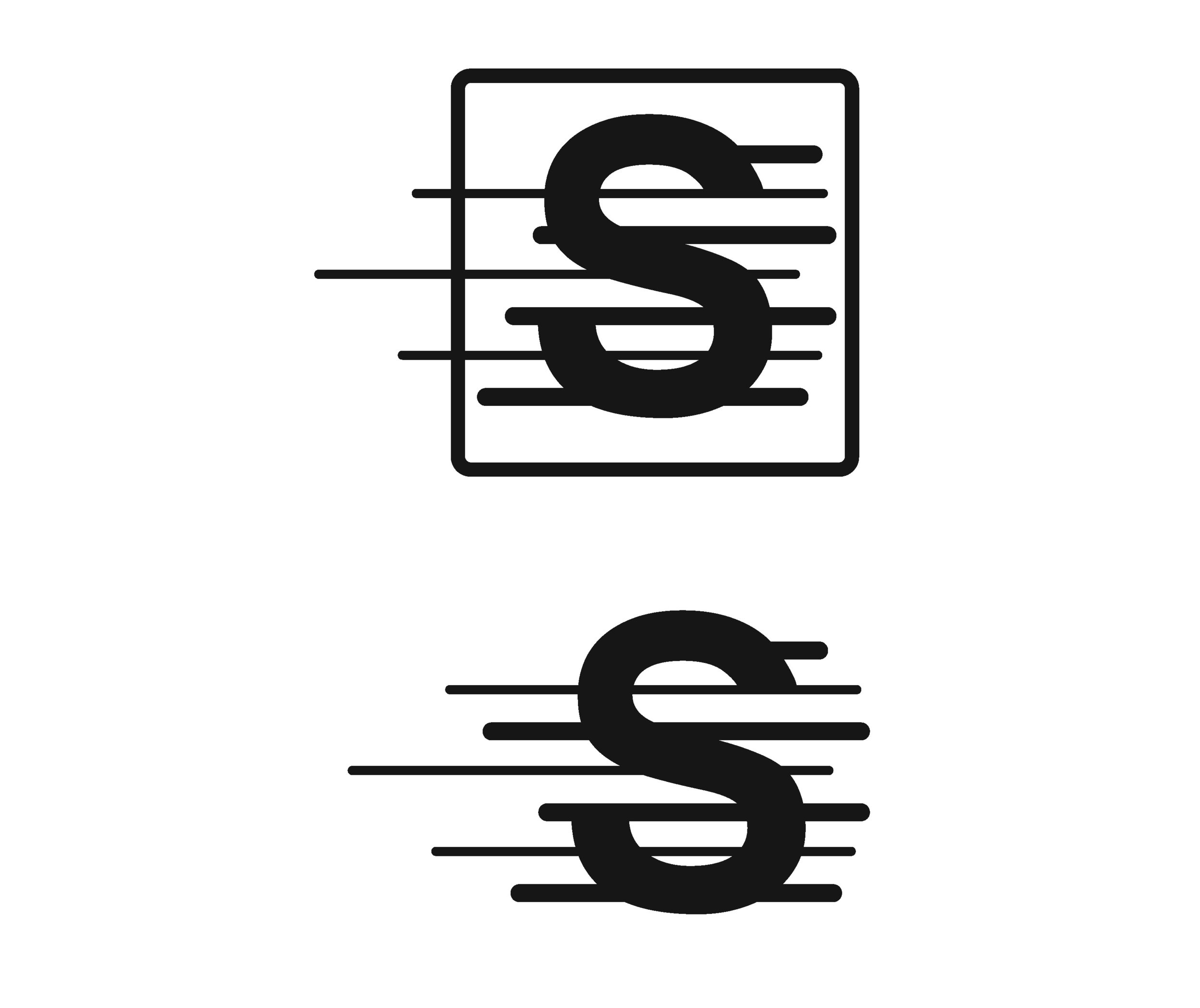 Stride Search identity logo concepts 2 speed lines