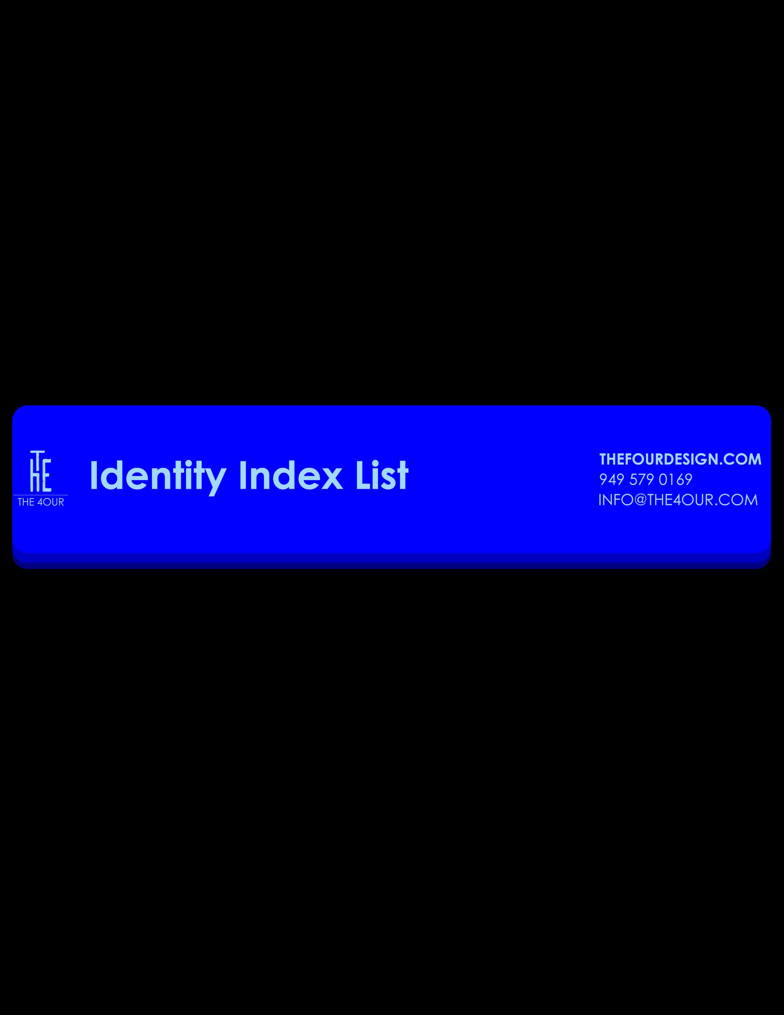 Identity Index List