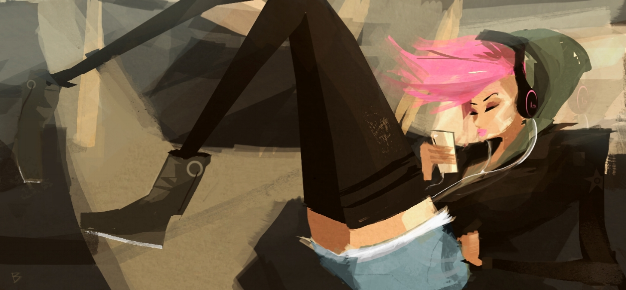 Girl with headphones_Speed Painting.jpg