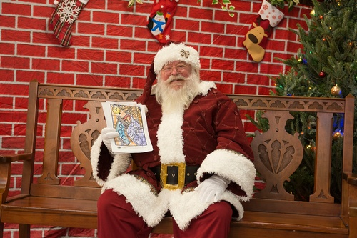 Santa, Northcenter chamber of commerce, shop small, small business saturday