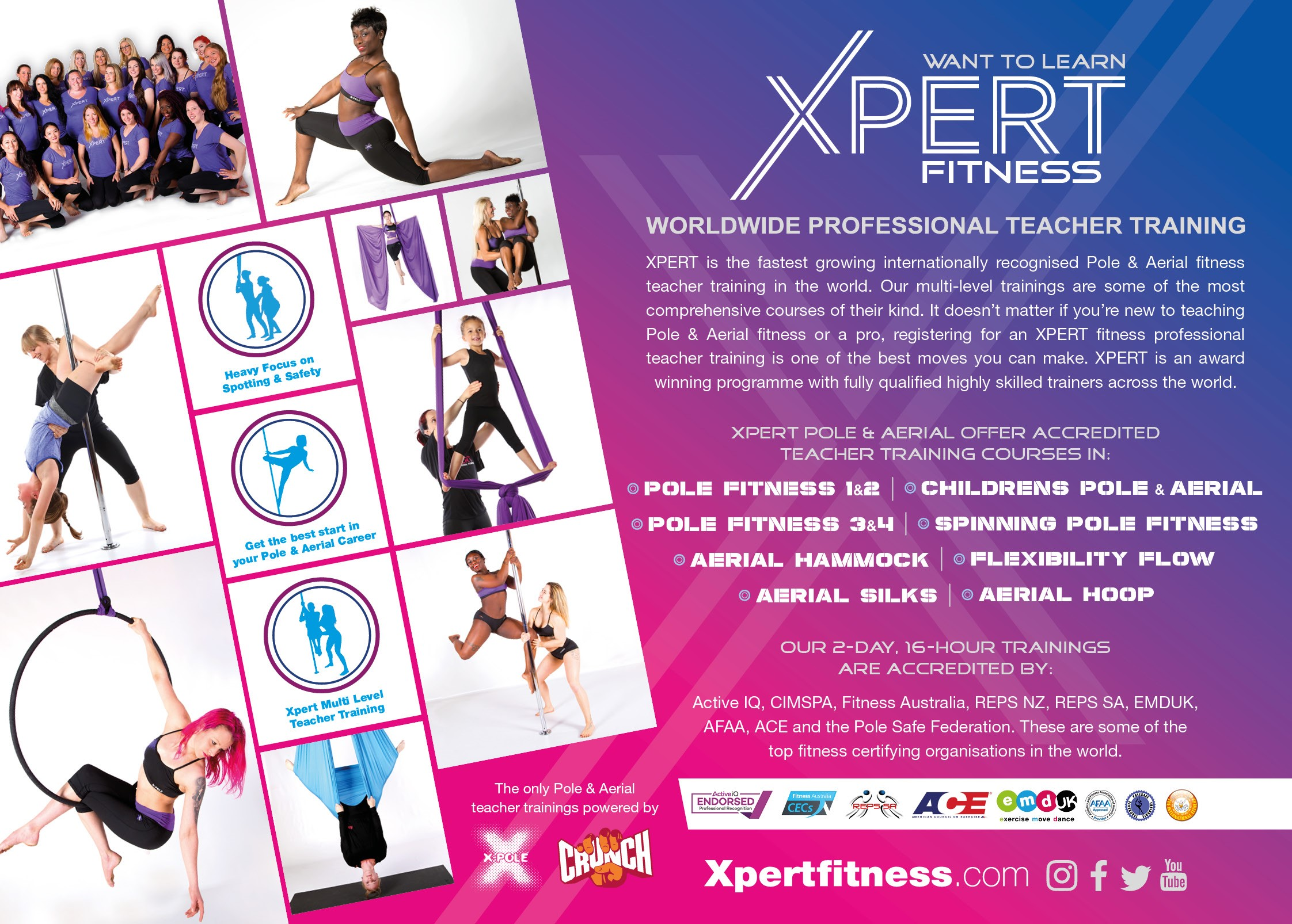 Get Certified through XPERT! - All competitors receive 10% off of an XPERT certification for pole, hoop, or flexibility. Please email amy@xpoleus.com to get the discount set up.Click here to see dates and locations! Offer applies to certifications at the XPOLE Development Centre USA in North Hollywood, CA.