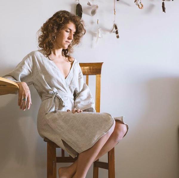The Arraei kimono wrap dress  Photographer: @davidjackbarry