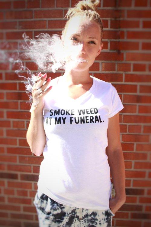 Smoke Weed at My Funeral T-shirt - Tweedledoob Shop