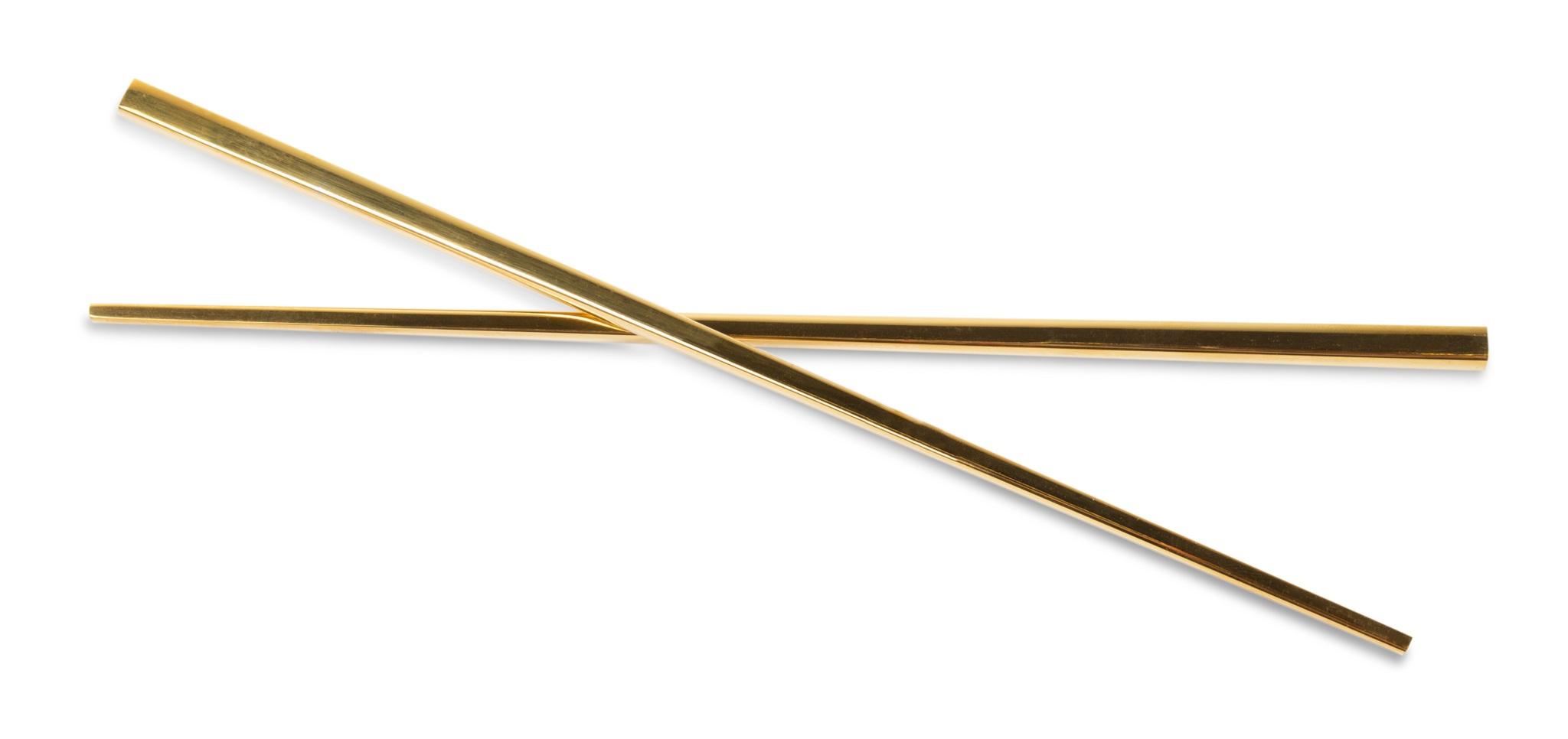 #8 Gold Stainless Steel Chopsticks