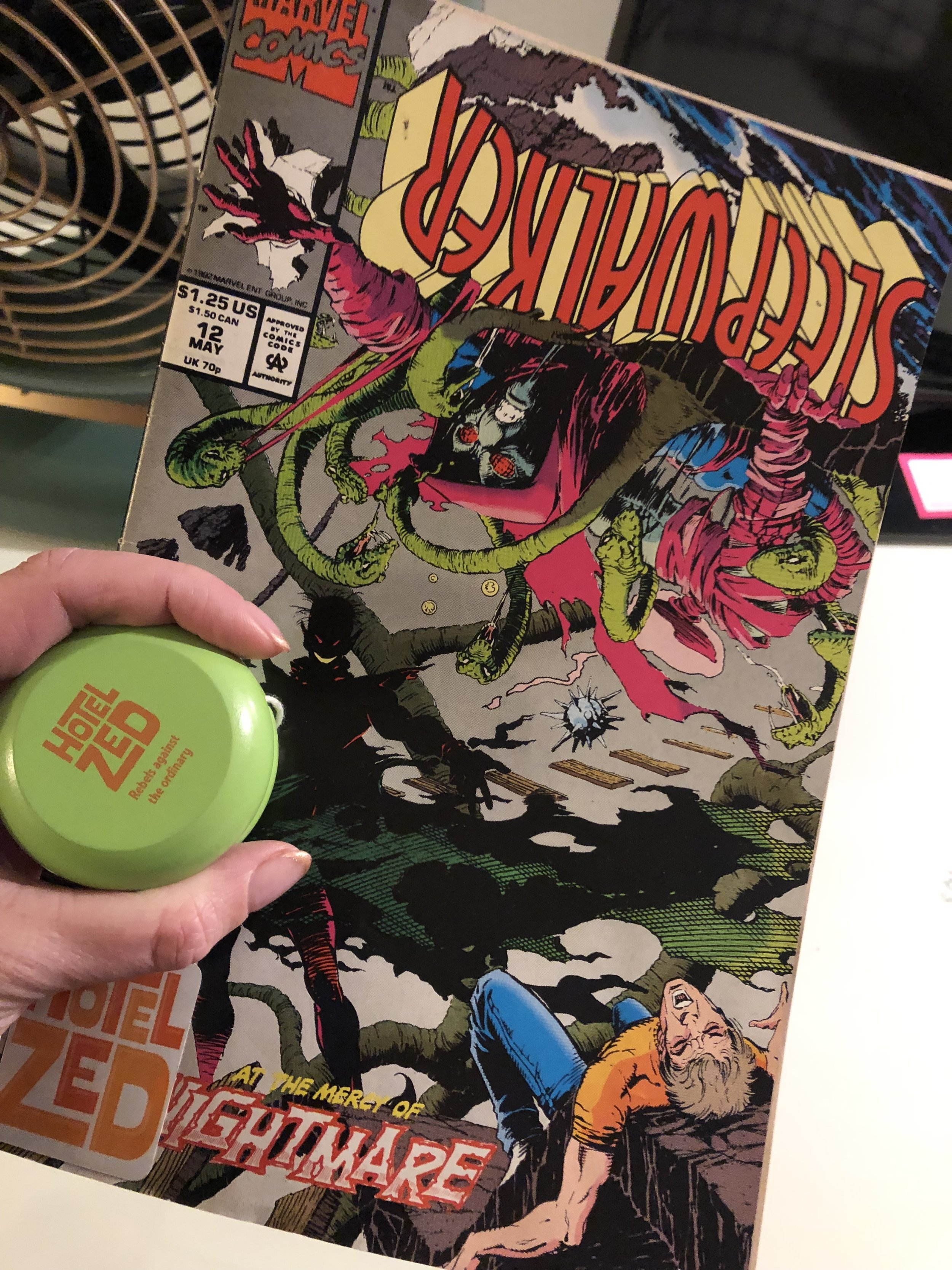 There was a comic book and a yo-yo ready for me in my room!