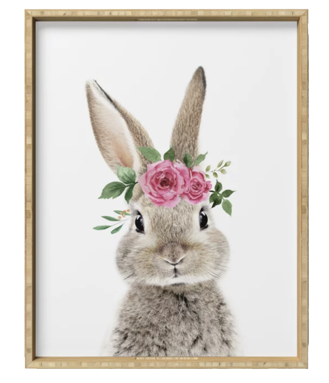 BUNNY WITH CROWN SERVING TRAY