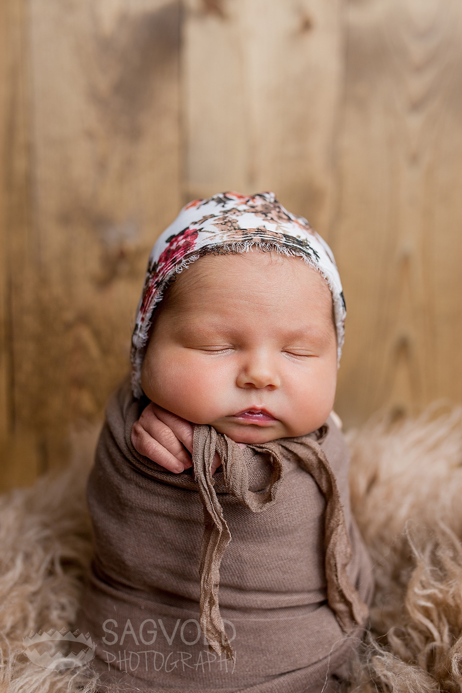 Newborn potato sack pose Fargo ND newborn photographer Janna Sagvold Photography