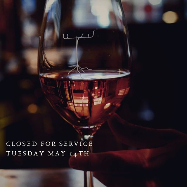 Our restaurant will be closed for service tomorrow, Tuesday March 14th. The wine shop will be open from noon to 5pm. Regular hours for both sides of the business will resume Wednesday.