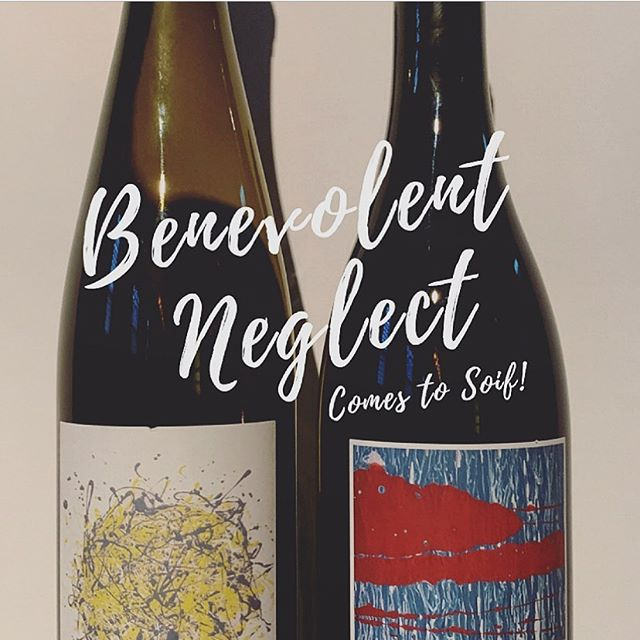 Benevolent Neglect is coming to Soif! Join us this Saturday for a special tasting with winemaker Matthew Nagy. Check out our website or Facebook event page for more information! • • • • #wine #winetasting #californiawine #sustainablewine #benevolentneglectwines #amyatwoodselections #santacruz #downtownsantacruz