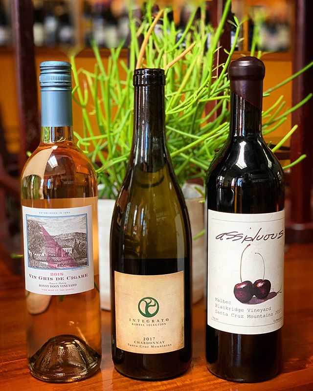 Tonight's a Friday Night Flight features all locally made wines! Stop by the wine shop between 5pm and 7pm to taste with us. • • • • #wine #winetasting #wineflight #localwines #drinklocal #santacruzwine #santacruzmountainsava #montereybay #santacruz #downtownsantacruz #eatersf #ediblemontereybay #bonnydoon #santearcangelifamilywines #assiduous