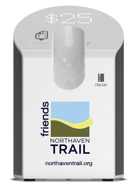 Northaven Trail Electronic Donation Jar