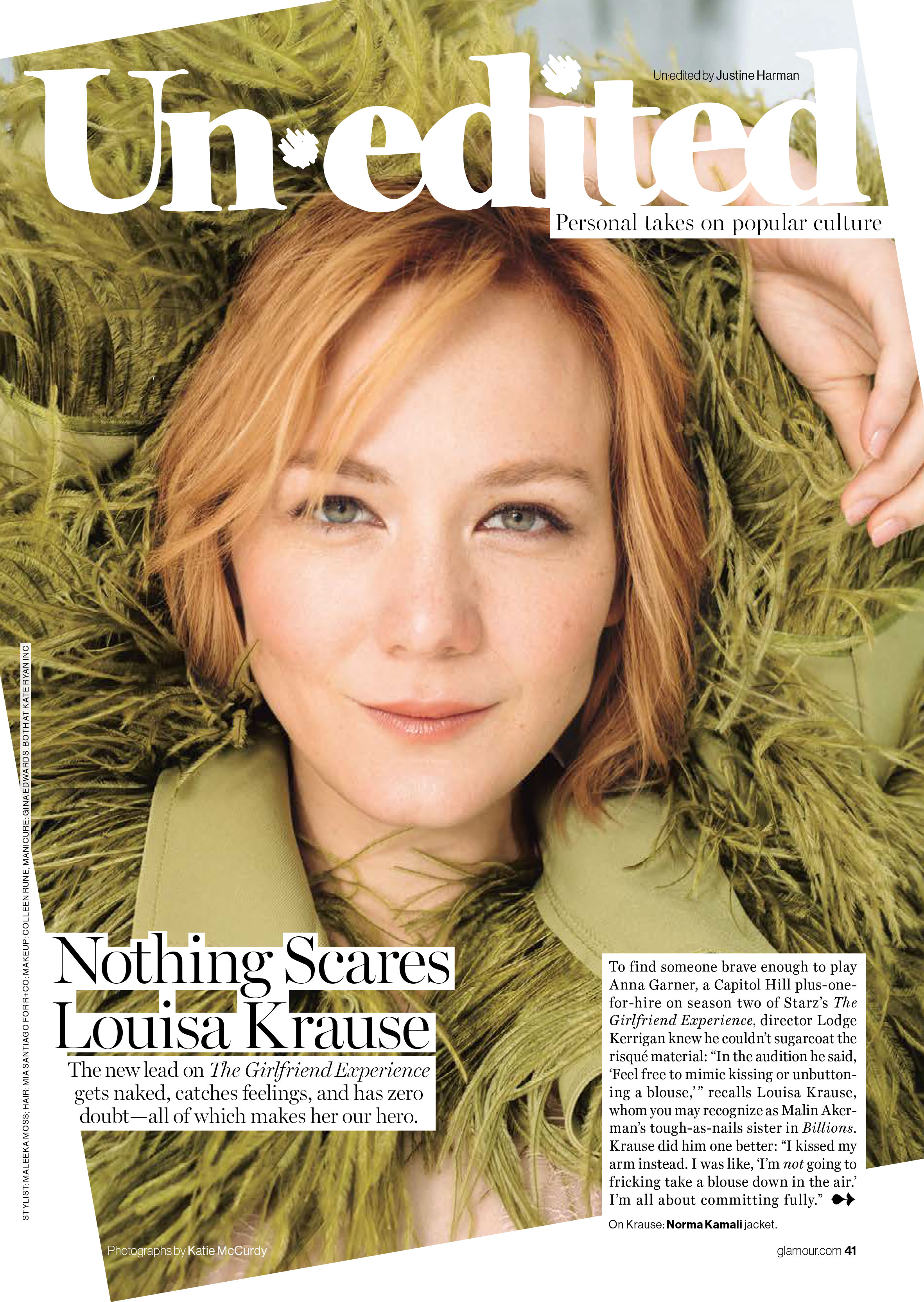 Louisa Kraus Glamour Magazine