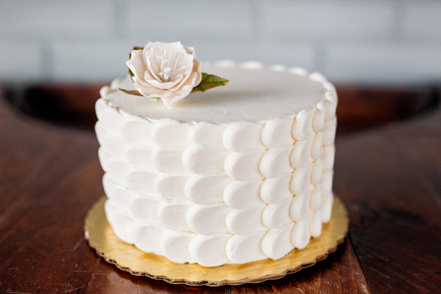 Cake number 3:  Leah's Cakery   Brown sugar vanilla cake with raspberry jam and raspberry cream filling and frosted in vanilla Swiss meringue buttercream. Pete would love this cake, not too sweet and the flavors gently complement each other. Stop in their shop in Round Lake, for a bit of Southern charm!