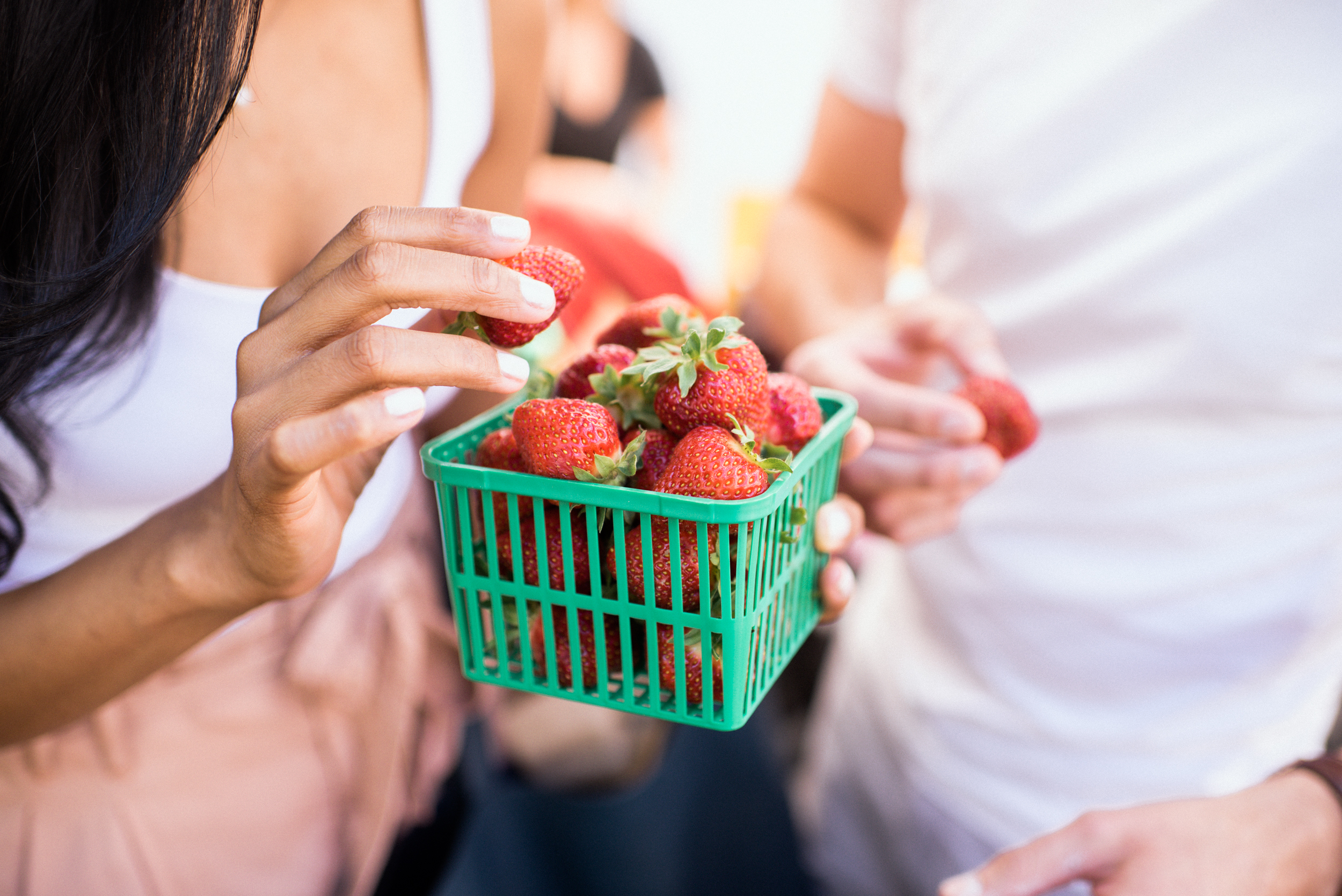 Fresh, sweet strawberries from a local Ontario farm