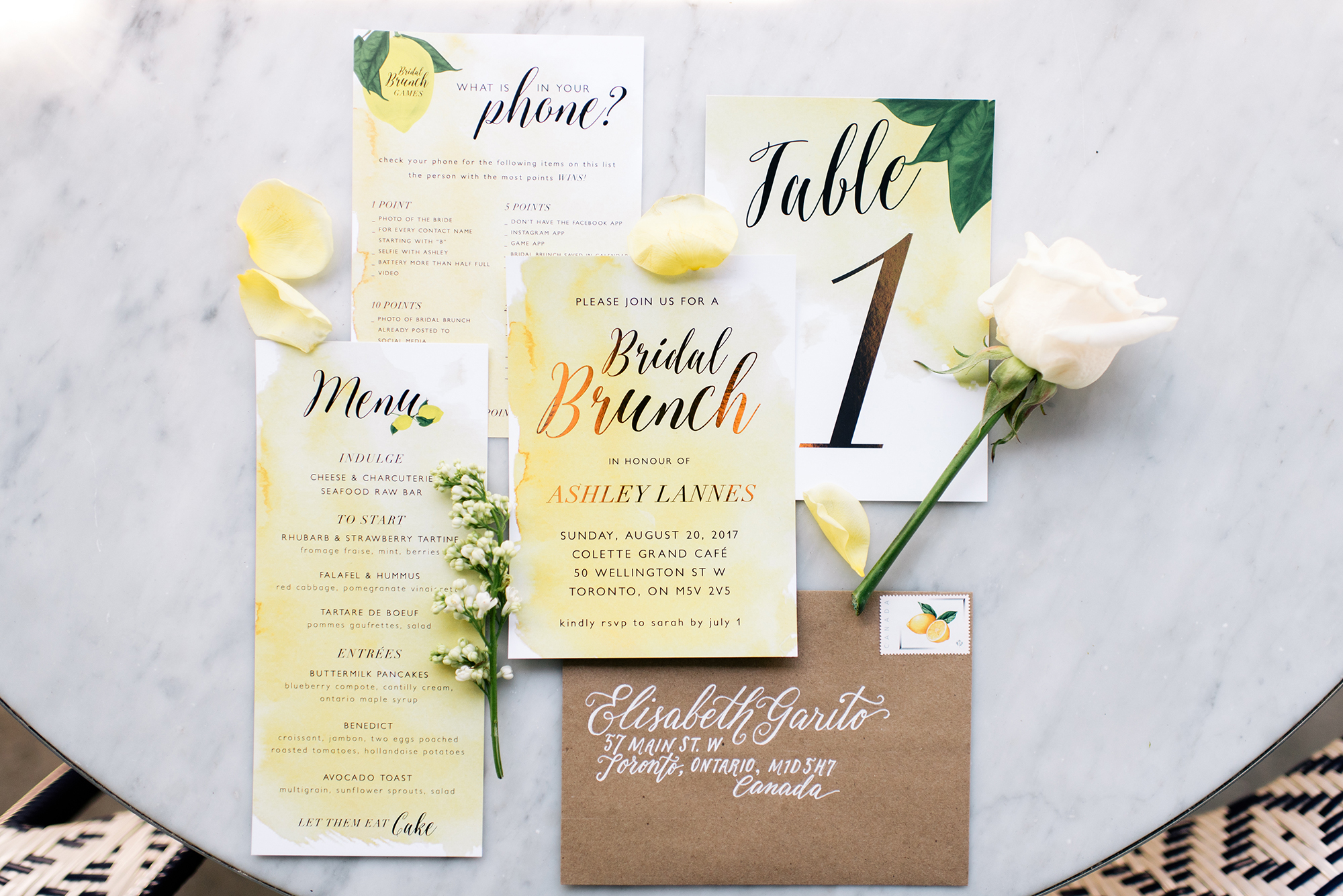 lemon-bridal-shower-stationery