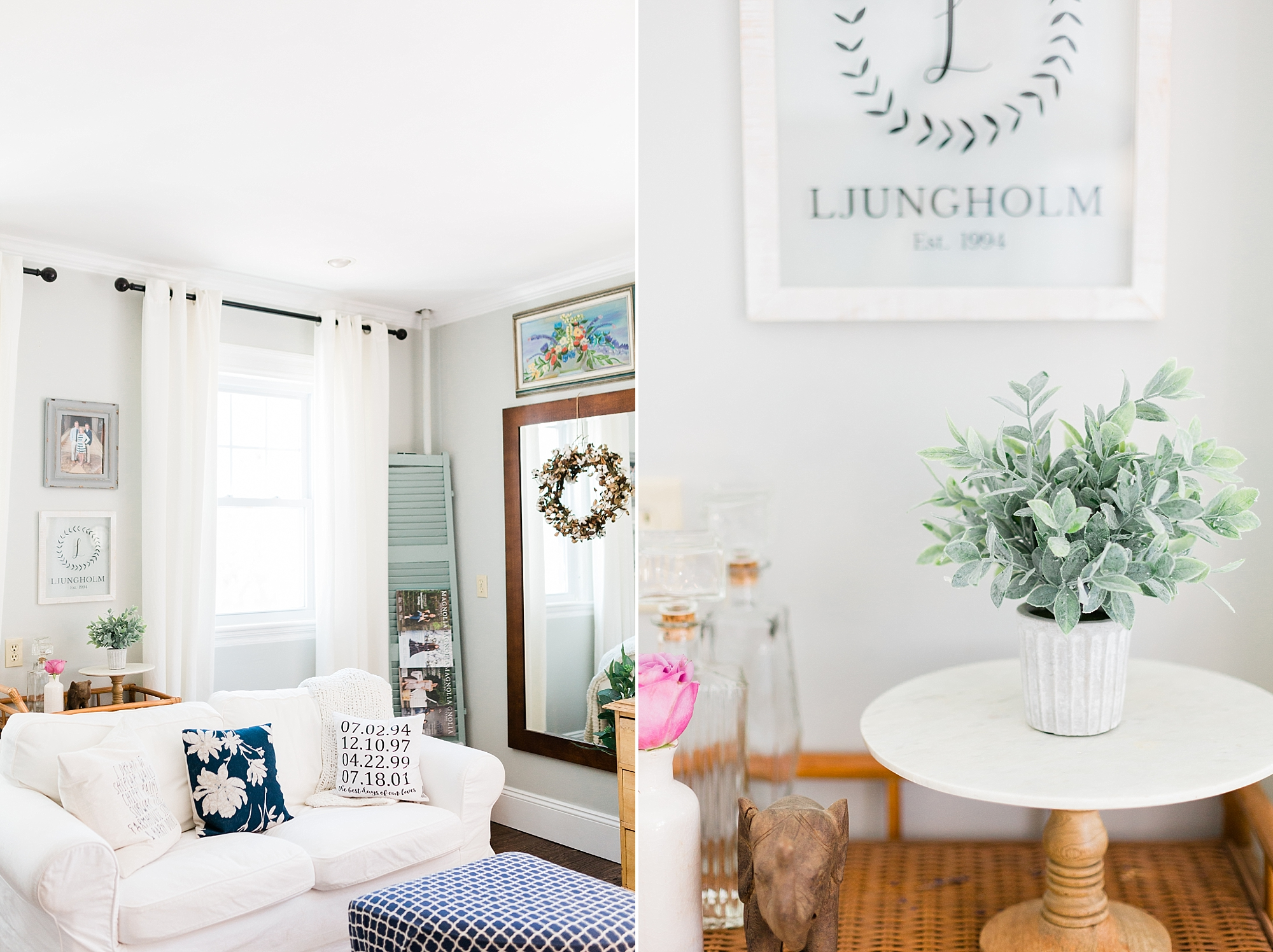 Living Room - Interior Design - New England Home - Madison Rae Photography