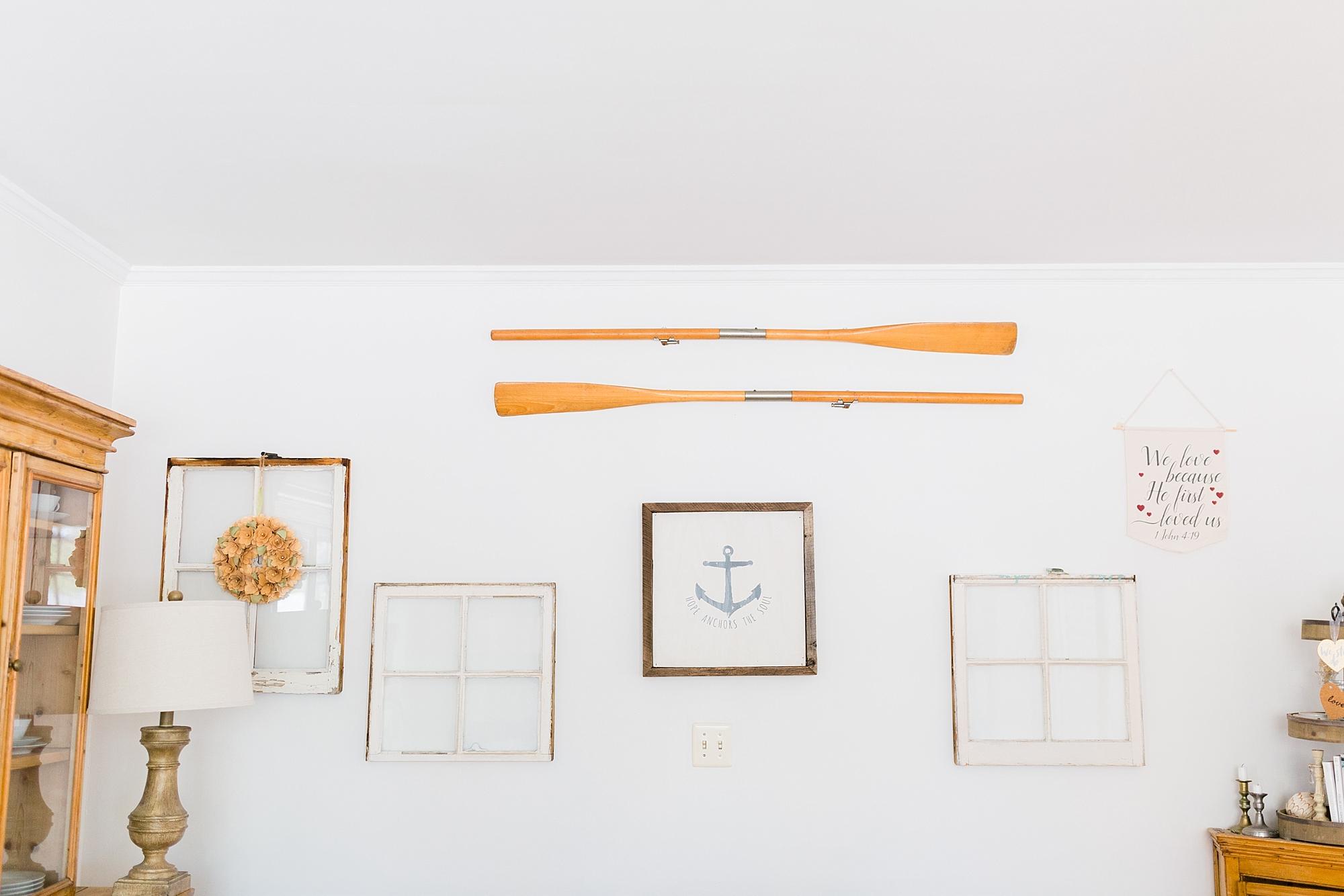 Nautical Themed Wall - New Hampshire Home - Madison Rae Photography