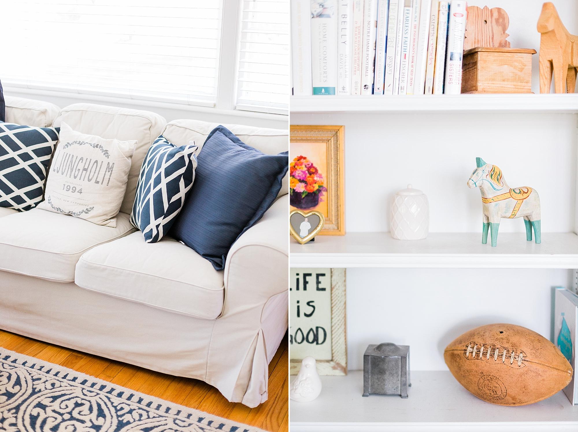 Living Room Decor - Interior Design - New Hampshire Home - Madison Rae Photography