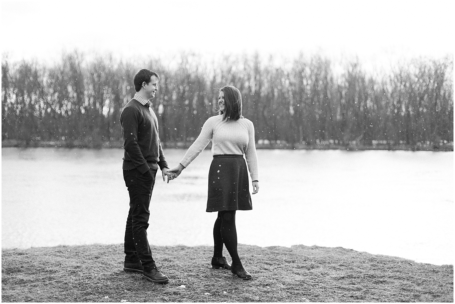 Snowy Engagement Pictures - New England Wedding Photography - New Hampshire Photographer