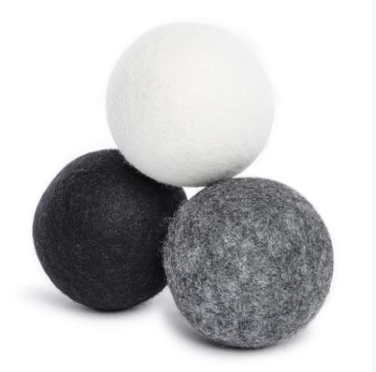 Wool dryer balls  [reduce dryer time & conserve energy]