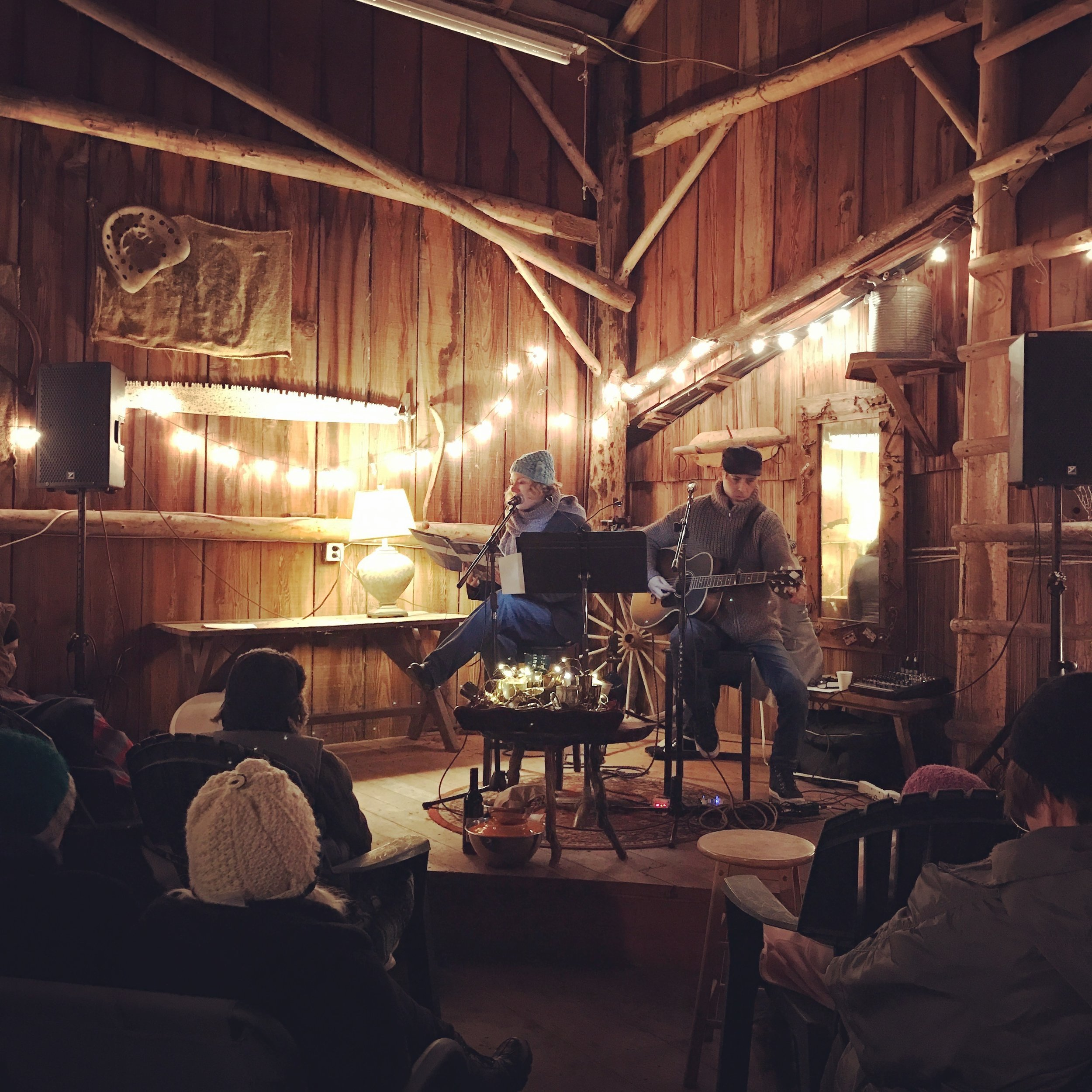 Christmas Eve in a Barn -