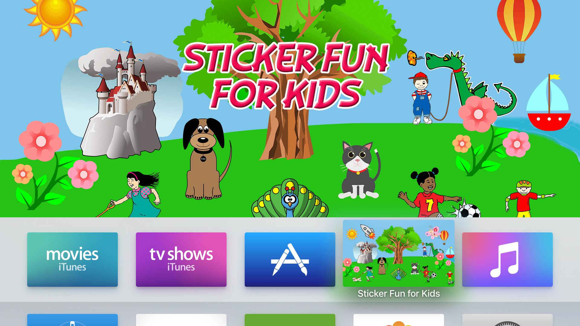 Sticker Fun for Kids on Apple TV®