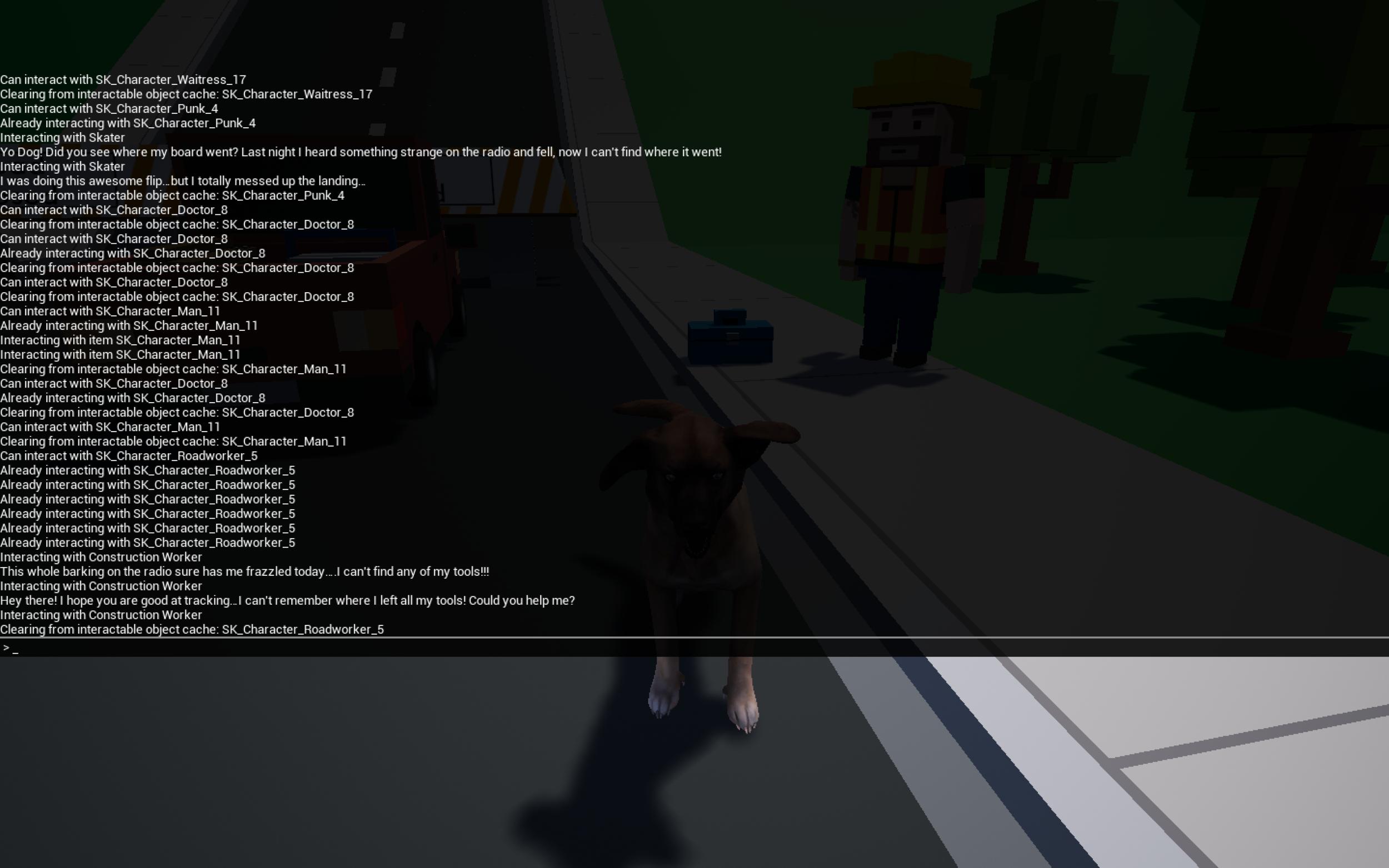 Debug Console showing the Debug Log.png
