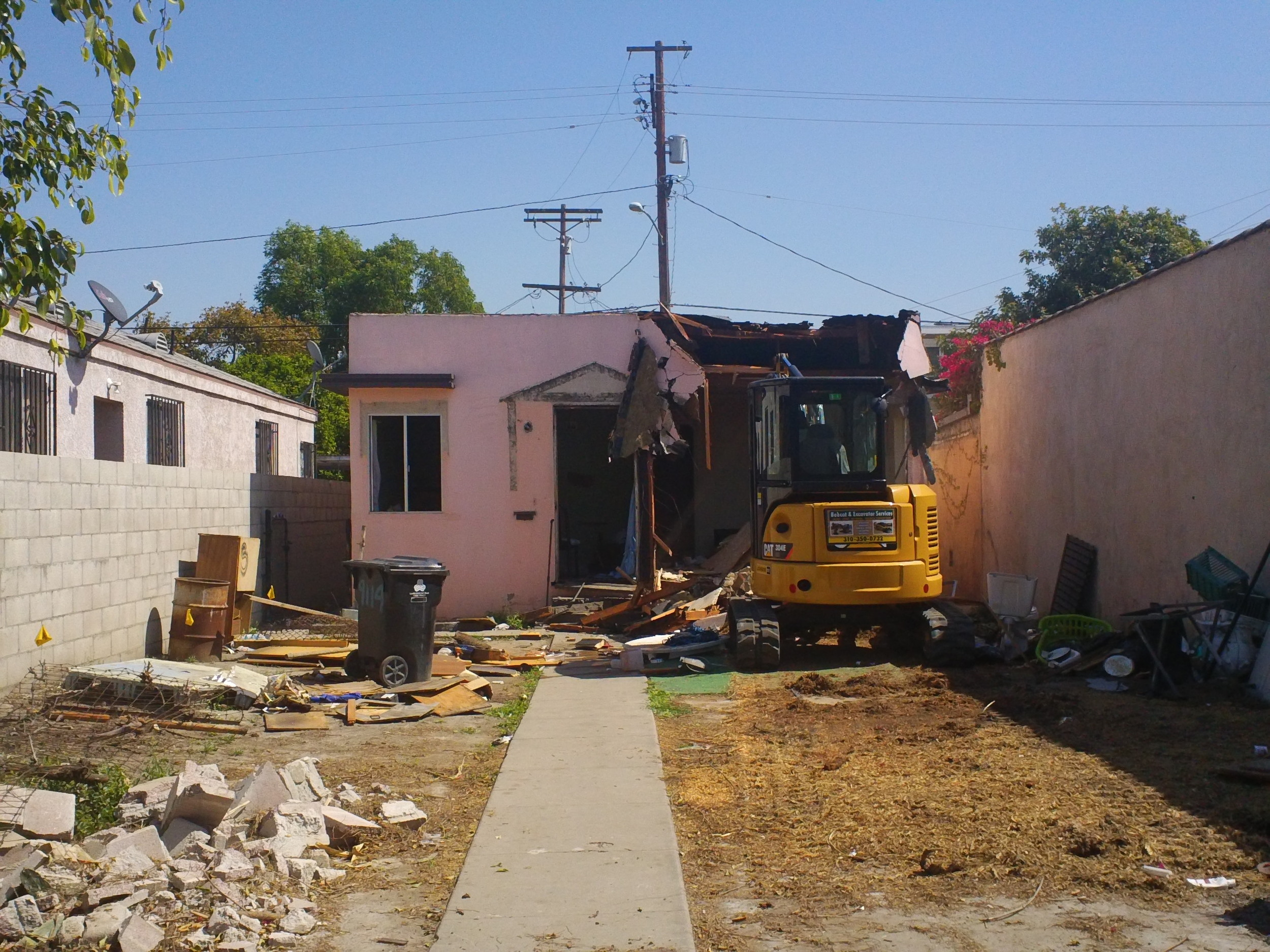 Property acquisition, demolition, and design have been completed